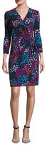 Anne Klein Draped Printed Ity Dress