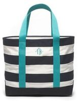 Tommy Hilfiger Women's Large Rugby Stripe Tote