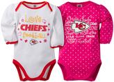 Gerber Kansas City Chiefs Pink Long-Sleeve Bodysuit - Infant