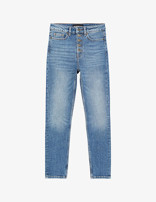 The Kooples High-rise slim-fit denim jeans