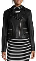MICHAEL Michael Kors Lamb Leather Biker Jacket