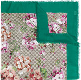 Gucci Blooms print shawl - women - Silk/Modal - One Size