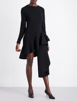 Antonio Berardi Asymmetric ruffled woven dress