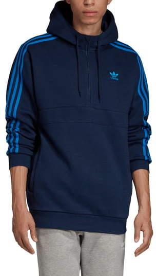 adidas 3-Stripes Half Zip Pullover Hoodie