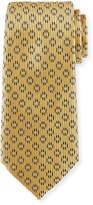 Ermenegildo Zegna Dot-in-Circle Silk Tie, Yellow