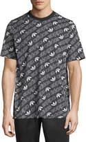 Adidas Men's Diagonal Logo T-Shirt, Black