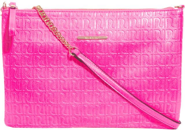 River Island Pink Neon RI Emboss Pochette
