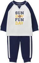 Gymboree White & Navy 'Sunday Funday' Football Tee & Joggers - Infant