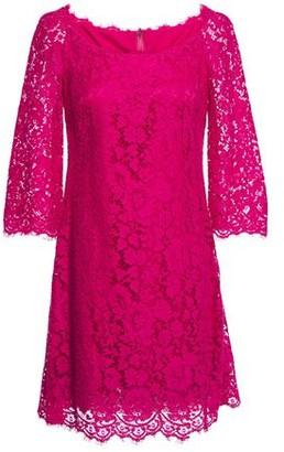 Dolce & Gabbana Scalloped Corded Lace Mini Dress