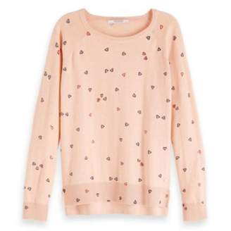 Scotch & Soda Hearts Knitted Pullover - L - Pink/Red/Blue