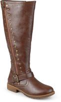 Journee Collection Brown Tilt Wide-Calf Boot