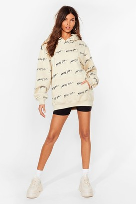 Nasty Gal Womens Nothing But a Oversized Hoodie - Beige - XL, Beige