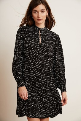 Velvet by Graham & Spencer Delores Polka Dot Long Sleeve Dress