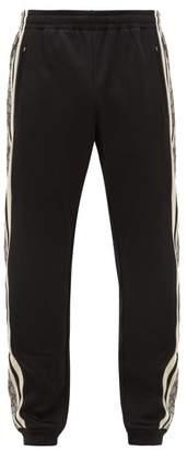 Gucci Gg-jacquard Side-stripe Track Pants - Mens - Black