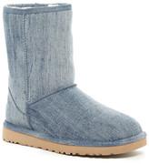 UGG Classic Short Washed Denim UGGpure(TM) Lined Boot
