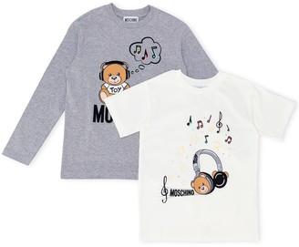 MOSCHINO BAMBINO Teddybear Logo Print Sweatshirt