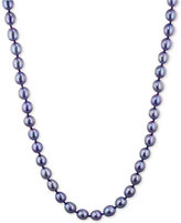 Honora Style Violet Cultured Freshwater Pearl Strand in Sterling Silver (7-8mm)