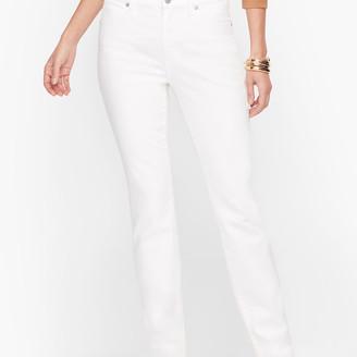 Talbots High-Waist Straight-Leg Jeans - White