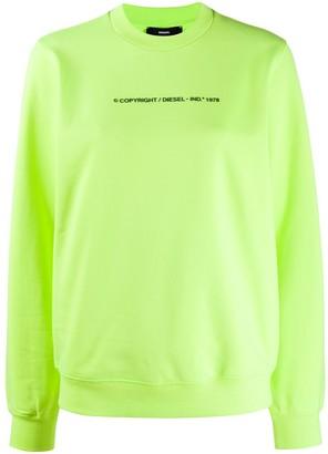 Diesel Copyright print sweatshirt