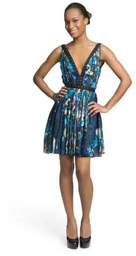 Christian Cota Daring Deep V Dress