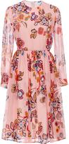 MSGM Silk Floral Printed Dress