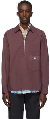 3.1 Phillip Lim Burgundy Half Zip Shirt