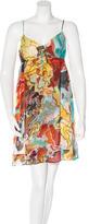 Diane von Furstenberg Printed Silk Mini Dress