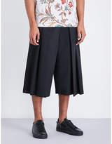 Mcq Alexander Mcqueen Atami Wide-leg Wool Shorts