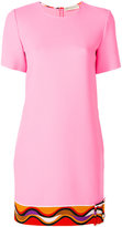 Emilio Pucci pattern buckle hem dress