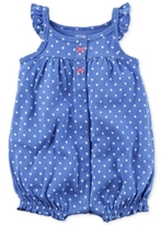 Carter's Dot-Print Crab Cotton Romper, Baby Girls (0-24 months)