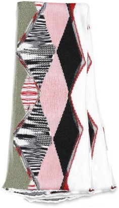 Missoni Rhombus Patterned Knitted Scarf