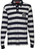 Front Up Rugby Mens World Tour Rugger Long Sleeve Polo Front Up Navy