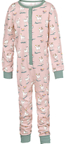 Fat Face Children's Deer Jersey Onesie, Raspberry