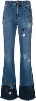 RED Valentino star patch flared jeans - women - Cotton/Spandex/Elastane/Wool - 29