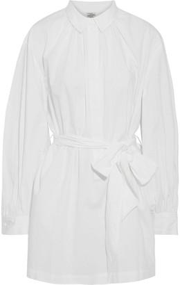 Baum und Pferdgarten Gathered Cotton-poplin Mini Shirt Dress