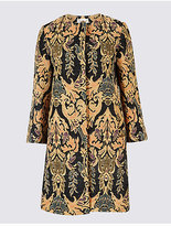 Per Una Cotton Rich Jacquard Print Coat