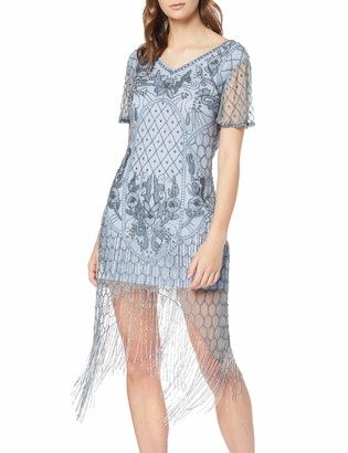 Frock and Frill Women's Fantasia Flapper Style Embellished Cap Sleeve Dress Party