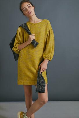 Lyla Cozy Tunic Dress By Saturday/Sunday in Gold Size S
