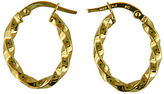 Lord & Taylor 14K Yellow Gold Textured Hoop Earrings