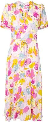 Rebecca Vallance Garda short-sleeve midi dress