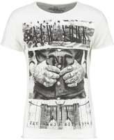 Key Largo NEW YORK Print Tshirt off white