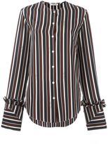 Nina Ricci striped collarless blouse