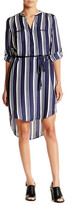 Acrobat Cabana Stripe Shirttail Hem Dress