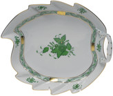 Herend Chinese Bouquet Green Leaf Dish