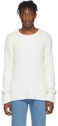 Maison Margiela Off-White Ribbed Sweater
