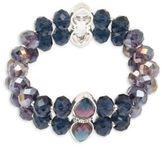 Anne Klein Crystal Beaded Stretch Bracelet