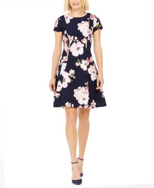Jessica Howard Floral-Print A-Line Dress