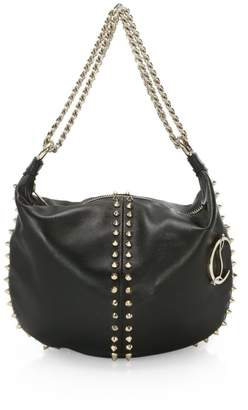 Christian Louboutin Elixira Spiked Leather Hobo Bag
