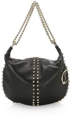 Christian Louboutin Elixira Spiked Leather Hobo Bag