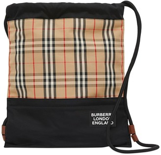Burberry Vintage Check panelled backpack